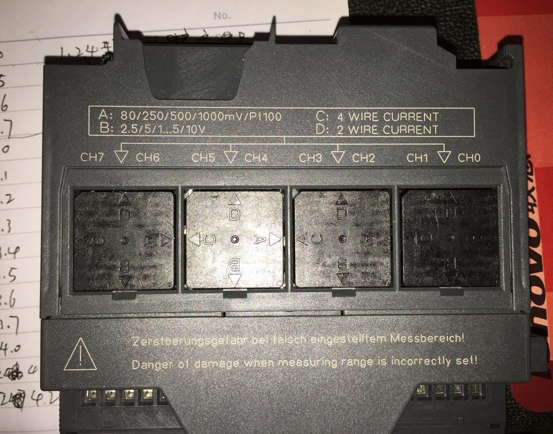 用的331-7kf02-0ab0的模块,我的信号方式是4-20ma输入,接线